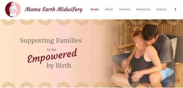 Mama Earth Midwifery Website